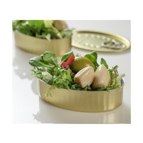 LATA DE TAPEO OVAL 11x7 ORO Pack 10 Uds.