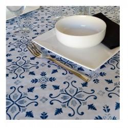 Mantel 100X100 Claudia Blanco Azul Caja 400 Uds Papel Cortado