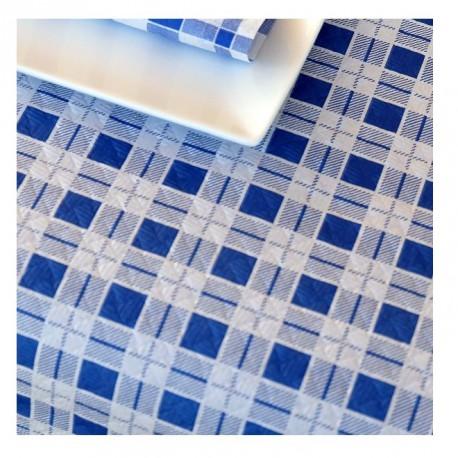 Mantel de Papel 100X100 40 Grs Cuadro Pequeño Azul