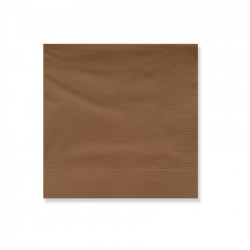 SERVILLETA 30x30 2 Capas MARRON Pack 100 Uds.