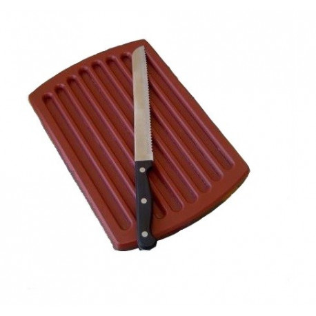 TABLA CORTE PANERA MARRON 24x40x2 Cms.