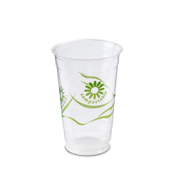 VASO CRISTAL COMPOSTABLE PLA 330 cc. GREEN SPIRIT Pack 50 Uds.