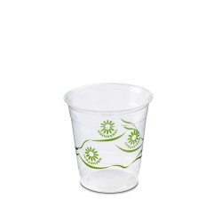 VASO CRISTAL COMPOSTABLE PLA 250 cc. GREEN SPIRIT Pack 50 Uds.