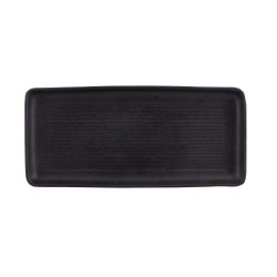 FUENTE RECTANGULAR CHURRASCO NEGRO 36,5x17 Cms. Pack 6 Uds.