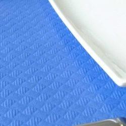 Mantel 100*100 40 Gr. Azul Liso Caja 400 Uds Papel Cortado