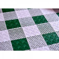 Mantel 100X100 40 Grs. Cuadro Verde Caja 400 Uds Papel Cortado