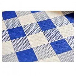 Mantel 100X100 40 Grs. Cuadro Azul Caja 400 Uds Papel Cortado