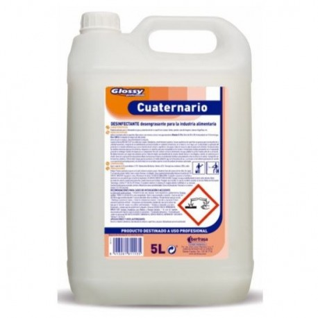 CUATERNARIO GLOSSY BACTERICIDA REGISTRO HA 5 Lts.