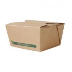 CAJA CARTON KRAFT RECTANGULAR TAKE AWAY 900 ml. Pack 50 Uds.