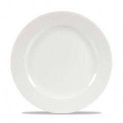 ISLA WHITE PLATO LLANO 23,4 Cms. Caja 12 Uds