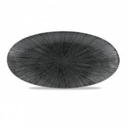 AGANO BLACK FUENTE OVAL 29,9x15 Cms. Caja 12 Uds.